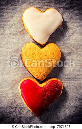 zoet hart, koekjes - csp17971505