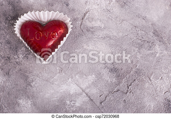 zoet, plek, rood hart, tekst - csp72030968